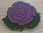 Kate Edger Purple Rose Hood Pin