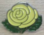 Kate Edger Yellow Rose Hood Pin